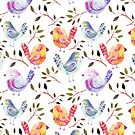 Birds Watercolor by T-ShirtsGifts