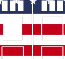 Doctor Who: American Flag TARDIS Sticker