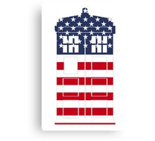 Doctor Who: American Flag TARDIS Canvas Print