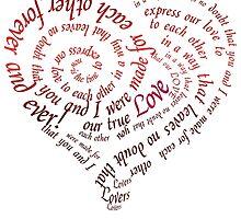 Heart Calligraphy by Zehda