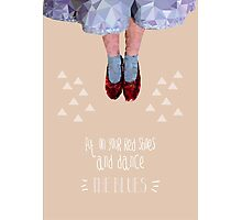 Dorothy's red shoes Photographic Print
