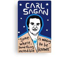 Carl Sagan pop folk art Canvas Print