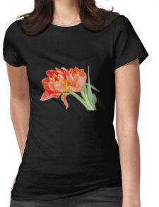Peachy Tulips - T-Shirts Womens Fitted T-Shirt