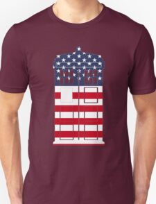 Doctor Who: American Flag TARDIS Unisex T-Shirt