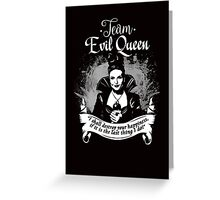 Team Evil Queen OUAT. Silver version. Greeting Card