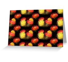 Protea - pattern Greeting Card