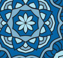 Ocean Blue Mandala Sticker