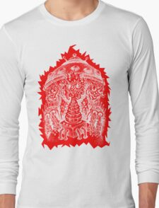 INVADED (red reverse print) Long Sleeve T-Shirt