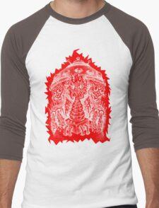 INVADED (red reverse print) Men's Baseball ¾ T-Shirt