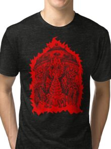 INVADED (red reverse print) Tri-blend T-Shirt