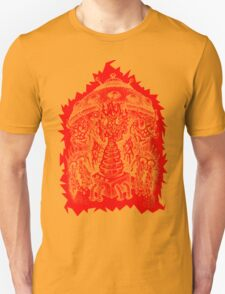 INVADED (red reverse print) Unisex T-Shirt