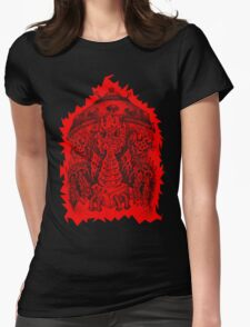 INVADED (red reverse print) Womens Fitted T-Shirt