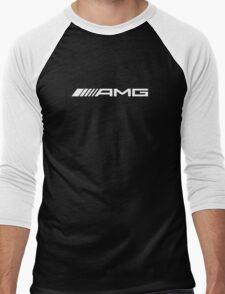 AMG WHITE Men's Baseball ¾ T-Shirt