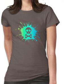 Pirate Halloween Skull Womens Fitted T-Shirt