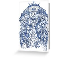 INVADED (blue) Greeting Card