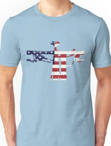 Patriotic Mountain Biker - MTB Collection #001 Unisex T-Shirt