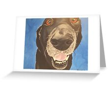Russell the Black Lab Greeting Card
