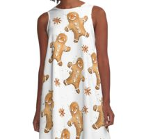 Gingerbread Man A-Line Dress
