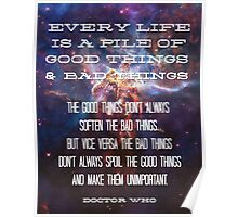 Good Things / Bad Things - Doctor Who Poster