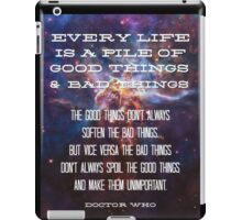 Good Things / Bad Things - Doctor Who iPad Case/Skin