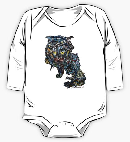 Dragon Cat Color Closeup One Piece - Long Sleeve