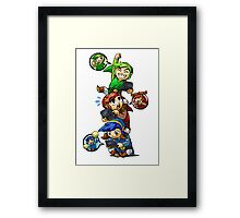 Tri Force Heroes Framed Print