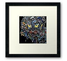 Dragon Cat Color Closeup Framed Print