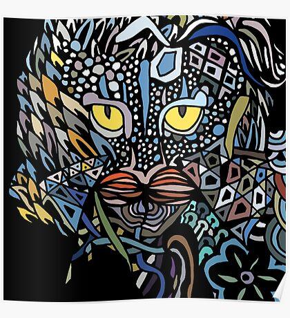 Dragon Cat Color Closeup Poster