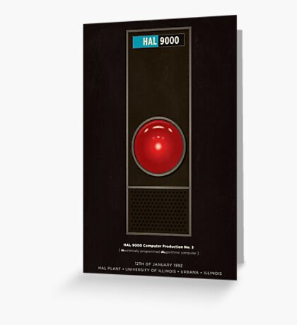 HAL 9000 computer from 2001 Greeting Card
