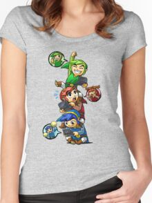 Tri Force Heroes Women's Fitted Scoop T-Shirt