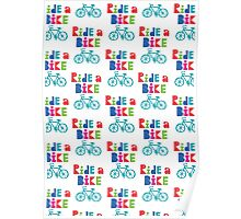 Ride a Bike Sketchy white  Poster