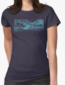 Farnsworth house mid century modern Womens Fitted T-Shirt