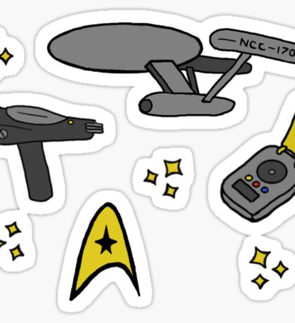 Star Trek Pattern Sticker