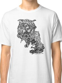 Dragon Cat Pattern Light Classic T-Shirt