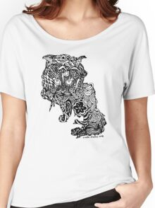Dragon Cat Pattern Light Women's Relaxed Fit T-Shirt