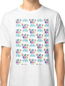 Ride a Bike Sketchy white  Classic T-Shirt