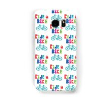 Ride a Bike Sketchy white  Samsung Galaxy Case/Skin