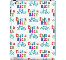 Ride a Bike Sketchy white  iPad Case/Skin