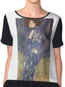 Gustav Klimt - Emilie Floege - Klimt -Woman Portrait Chiffon Top