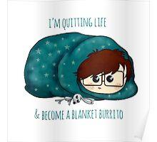 burrito blanket /Agat/ Poster