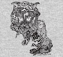 Dragon Cat Pattern Dark One Piece - Long Sleeve