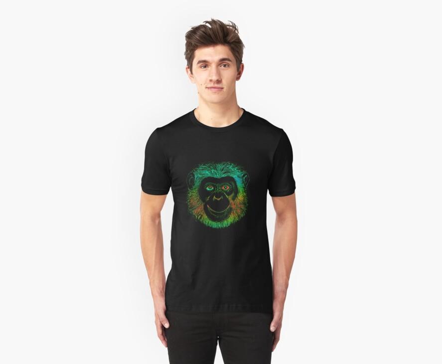 Chimpanzee Monkey by Zehda