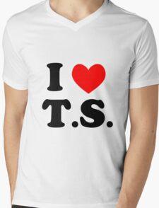 I Love T.S. Mens V-Neck T-Shirt