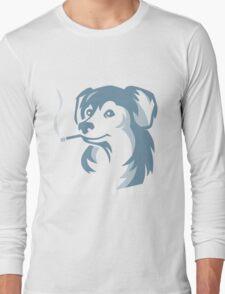 smoking dog Long Sleeve T-Shirt