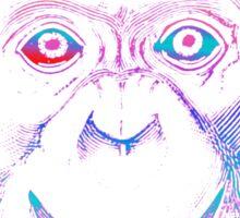 Chimpanzee Monkey Psychedelic Sticker