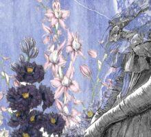 Lavender Purple Victorian Flowers Bride Woman Sticker