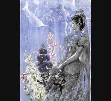 Lavender Purple Victorian Flowers Bride Woman Unisex T-Shirt