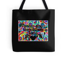 Follow Your Mixed-Media Heart Tote Bag