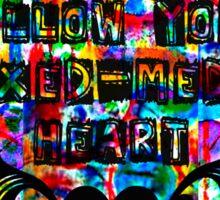Follow Your Mixed-Media Heart Sticker