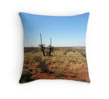 Grass Trees  along the Canning Stock Route Western Australia Throw Pillow